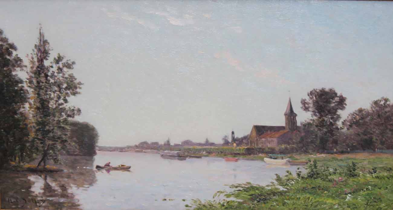 Les bords de l'Oise by HIPPOLYTE CAMILLE DELPY 1842-1910